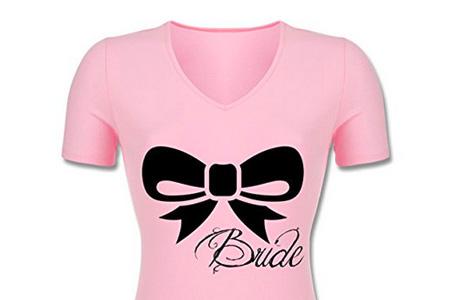 jga-junggesellinnenabschied-schleife-bride-braut-tailliertes-t-shirt-mit-v-ausschnitt-fuer-frauen