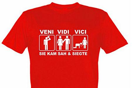 Lieblich Junggesellenabschied T Shirt Motiv Veni Vidi Vici Sie